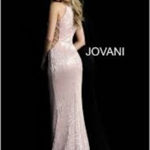 Jovani Dresses - Jovani (63552) Blush Pink Formal Dress